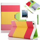 iPad Mini Colourful Leather Wallet Flip Cover Case Suitable For New i Pad Mini