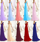 Women Elegant  One-shoulder Formal Bridesmaid Wedding Party Evening Dress Gown