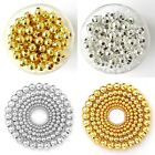 Wholesale 100/500pcs Silver/Golden Metal Round Ball Spacer Beads 4mm 5mm 6mm 8mm