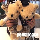 Kawaii Teddy Bear Cosmetic Make Up Bag  Pencil Pen Case Pouch - Couple bear