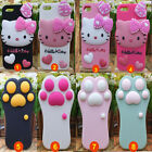 3D Cat Paw/Hello Kitty Silicone Case Skin for I PHONE 4/4S 5/5S