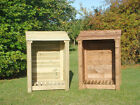 SINGLE 4FT OUTDOOR WOODEN LOG STORE  - ALSO AVAILABLE WITH DOORS.