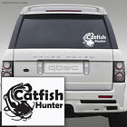 WELS CATFISH HUNTER carp pike fishing hooks car van wall sticker