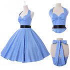 New Polka dot Swing 50s Housewife pinup Dress Vintage Rockabilly EVENING Dresses