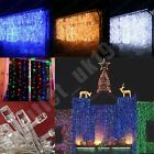 320 / 1000 LED Waterfall Curtain Christmas Xmas Decoration Lights Indoor Outdoor