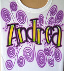 Airbrush T Shirt With Name, Airbrushed Shirt, Airbrush Graffiti Shirt, Airbrush