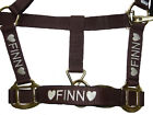 Personalised Embroidered Headcollars with Heart Motifs. All Sizes From £9.90