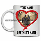PERSONALISED TEXT PHOTO MUG His Hers Valentines Birthday Christmas Gift Tea Cup