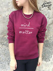 *MIND OVER MATTER Cute Jumper Sweater Top SWAG Tumblr Fashion Hipster Sweatshirt