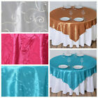 """12 pcs 72x72"""" Embroidered TAFFETA TABLE OVERLAYS Wedding Party Catering Linens"""