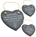 Engraved Heart Slate Bridesmaid - Flower Girl Personalised Gift