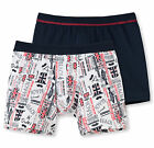 SCHIESSER Jungen Hip-Retro Shorts 2er Pack 104-176 95/5 CO/EL Boxershorts NEU