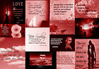 Famous Red Love Quotes Canvas Wall Art  Picture 100% cotton - A1, A2, A0 sizes