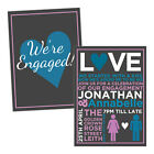 Personalised engagement party invitations PARTY POEM FREE ENVELOPES & DRAFT