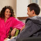 Egyptian Cotton Hooded Dressing Gown, Unisex, Mens, Womens, Bath Robe, 6 Colours