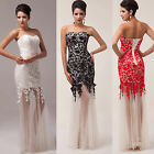 Long Tails Bridesmaid Evening Homecoming Party Gown Prom Cocktail Wedding Dress