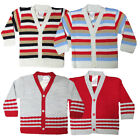BABY TOWN BOYS KNITTED CARDIGAN BUTTON FASTEN CARDIGANS IN SIZES 6-23 MONTHS