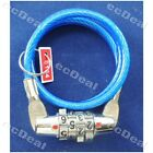 1 pcs Bike Bicycle Cable Wire Combination Lock ~50cm