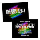 Personalised birthday party invitations EQUALIZER ROUND MUSIC FREE ENVELOPES & D