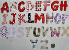 ALPHABET Iron on letter 4-6 cm shabby chic/dotty/floral craft NEW FREE P&P