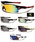 Khan Cycling Fishing Golf Wrap Around Sunglasses Running Colored Mirrored Lens