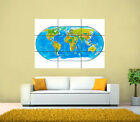 World Map Tiled GIANT Poster, Various sizes from A4, A3 up to 49.6'' x 35''