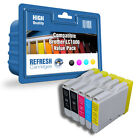 COMPATIBLE BROTHER LC1000 PRINTER INK CARTRIDGES - 1 FULL SET + 1 EXTRA BLACK