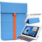 """Kroo TB2 Flexi Stand Bicast Leather Slim Travel Sleeve Case for 8"""" Tablets"""