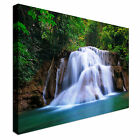 Deep forest Waterfall in Kanchanaburi Canvas Wall Art Print Large + Any Size