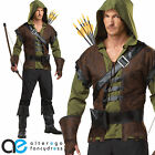 MENS ADULT ROBIN HOOD MEDIEVAL FANCY DRESS COSTUME ARCHER OUTFIT BOOK WEEK