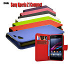 7 Colour New Pu Leather Wallet Flip Phone Case Cover For Sony Xperia Z1 Compact