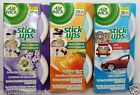 6 Air Wick Stick Ups Air Freshener Small Spaces & Car Most Convenient Ever! ❀~❤☀