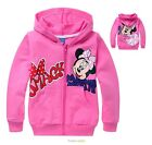 Pretty Toddler Baby Girls Minnie Mouse Front Zipper Hoodies Kids Clothing 2-8Yrs