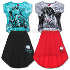 Monster High ★ 128 140 152 164 ★ 2tlg Shirt + Rock ★ VoKuHiLa Kleid ★ Draculaura