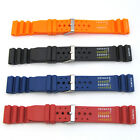 Mens Watch Strap Dive Band ND LIMITS CHART Divers Sports Rubber Waterproof S7