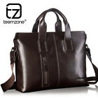 Mens Real Leather Briefcase Attache Portfolio Messenger Shoulder Bag Tote New