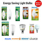 Energy Saving Light Bulb - B22 E27 E14 GX53 Lamps Sylvania Philips Multi Pack