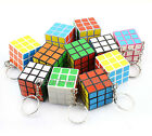 10pcs Mini 3x3x3cm Magic Cube Key Chain Puzzle Speed Toy Ornaments