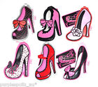 FLUFF LUGGAGE TAGS BURLY Q SHOES High Heel Shoe Suitcase Overnight Bag Label Tag