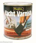 Rustins Clear Yacht Varnish - Tough exterior wood varnish - Gloss or Satin 500ml