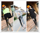 Fashion Hot Sexy Faux Leather Stretchy Skinny Lady Womens Leggings(A1022)