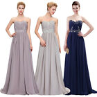 Shiny Long Chiffon Ruched Bridesmaid Dresses Prom Dress Formal Party Ball Gowns