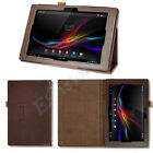 FOLDING FOLIO STAND LEATHER CASE COVER HOLDER For Sony Xperia Tablet Z 10.1