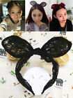 Vintage Sweet Sexy Lace Big Bow Rabbit Ears Headband Hair Bands Party Gift DIY