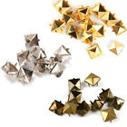 100x 6/8/9/mm Pyramid Studs Punk Spikes Leather Bags Shoes Metal Rivet DIY