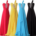 UK FAST Long Bridesmaid Chiffon Evening Party Cocktail Ball Formal Prom Dress A3