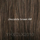 full head clip in on real remy hair extensions black brown blonde red 2015 Hot