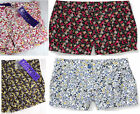 Women's MILEY CYRUS/MAX AZRIA floral shorts White Red Blue Black Brown Pink