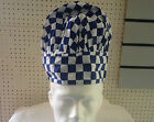 Chef hat, Fancy dress, party, professional catering,cap,hygiene,chess check,