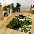 Affordable High End Floral Design Rug Luxury Stylist Lime Green Black Modern Rug